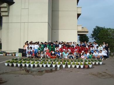 寄居城北高校 花いっぱい運動