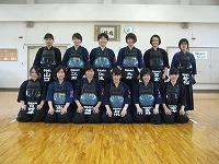 剣道部女子整列風景