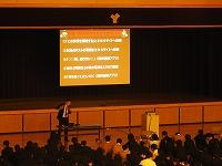 スライドを見ながらの講話風景