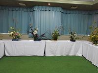 生け花の作品展示