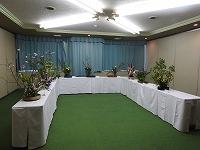 華道部の展示の様子