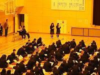 生徒の発表の様子