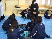 埼玉県立寄居城北高等学校 介護実習